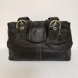 Coach Leather Shoulder Handbag